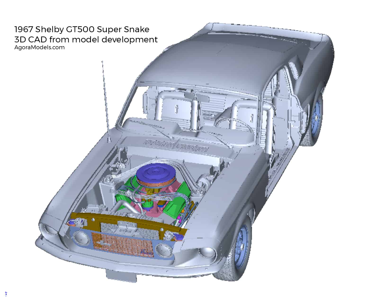 Shelby Super Snake 3D CAD drawing front